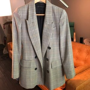 classic double breasted blazer